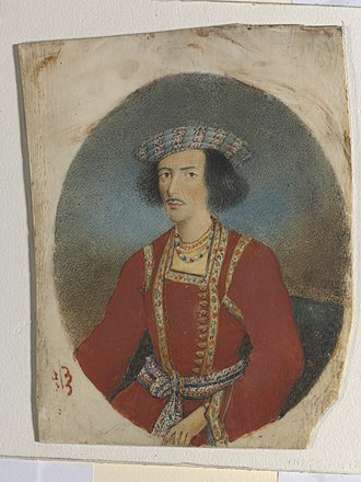 Ram Mohan Roy - Bust portrait of a young Ram Mohan Roy