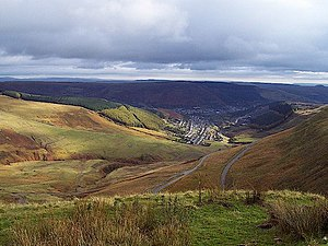 Treorchy - Bwlch-y-Clawdd Road and Treorchy