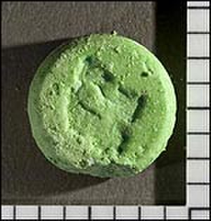 Benzylpiperazine - An impure 'ecstasy' tablet – seized by law enforcement in the United States – containing BZP, methamphetamine, and caffeine
