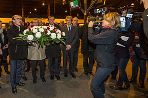 Eckwersheim derailment - Ceremony in remembrance of the victims at Strasbourg station, 16 November