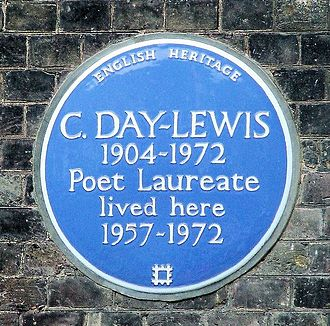 Cecil Day-Lewis - English Heritage blue plaque of Cecil Day-Lewis in Greenwich, London