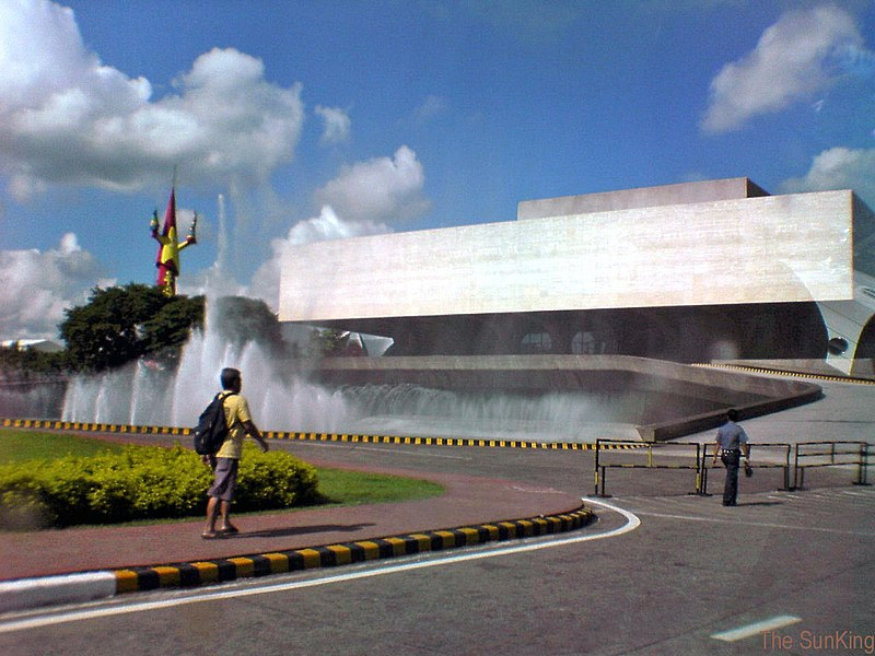ccp manila locsin leandro theater filipino architecture cultural philippines modern main arts 800px buildings houses through center works bea barrera