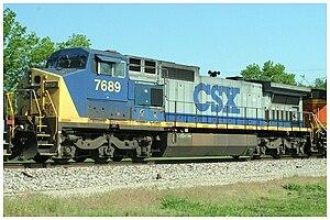 GE Dash 8 Series - Image: CSX 7689 GE C40 8W