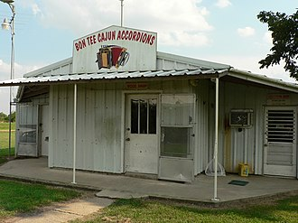 Cajun accordion - Shop in Iota, Louisiana where Larry Miller builds his Cajun accordions.