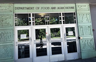 California Department of Food and Agriculture - Image: California Department of Food and Agriculture Headquarters Entrance