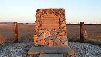 California Historical Landmarks in Yuba County, California - Image: California historic marker 799 3 at sunset