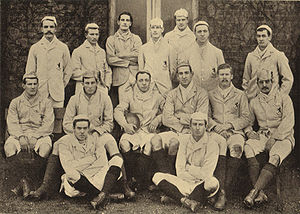 Alexander Todd (rugby union) - The Cambridge University team of 1893, Todd far left, back row