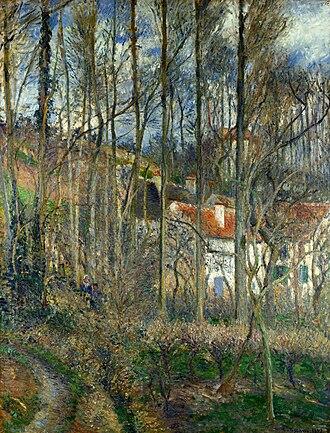 The Côte des Bœufs at L'Hermitage - Image: Camille Pissarro The Côte des Bœufs at L'Hermitage National Gallery London