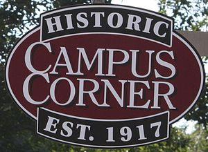 """Campus Corner - """"Historic Campus Corner"""" Marker"""