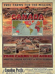 Cpr Adver Highlighting Free Farms For The Million In Western Canada Circa 1893