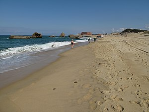 Beach evolution - Old German-built WWII bunkers at Capbreton, south-west of France
