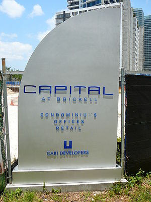 Capital at Brickell - The future site of Capital at Brickell as of May 2008