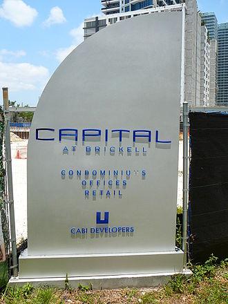 Capital at Brickell - The future site of Capital at Brickell as of May 2008