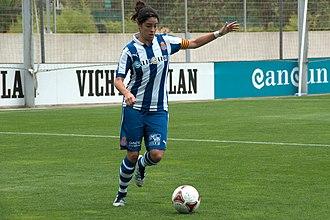Marta Torrejón - Torrejón captaining Espanyol in 2012