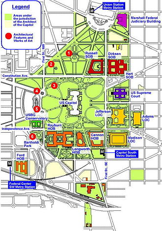 United States Capitol Complex - Map of the United States Capitol Complex
