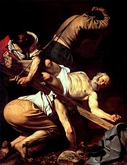 Crucifixion of St. Peter, Caravaggio 1601
