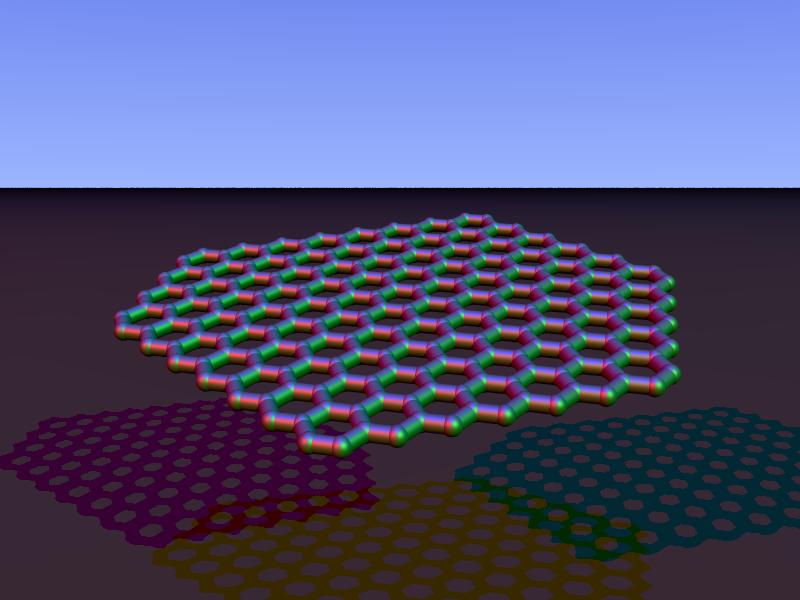 Carbon nanoribbon chiral povray