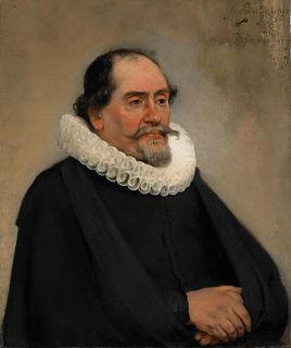 <i>Portrait of Abraham de Potter</i> painting by Carel Fabritius