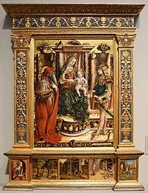 Carlo crivelli, madonna della rondine, post 1490, da s. francesco a matelica, 01.jpg
