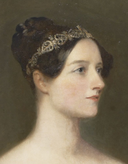 Carpenter portrait of Ada Lovelace - detail