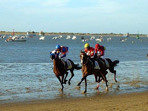 Carreras de caballos en la playa de Sanlucar