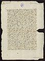 Carta del arzobispo de Monreal a don Fernando sobre su matrimonio con Isabel de Castilla 1471 01.jpg