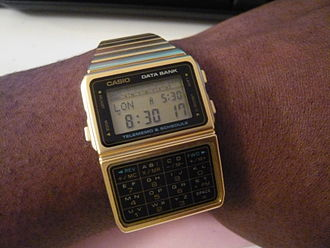 Casio Databank - A Casio DBC-610 Databank calculator watch.