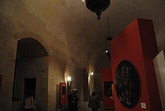 Sicilian Parliament - Sala dei Parlamenti (Parliaments Hall), establishment of the Sicilian Parliament in the Aragonese time.