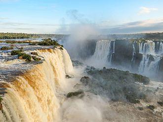 BRICS - Iguazu Falls in Paraná, Brazil, is the largest waterfalls system in the world.