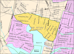 Census Bureau map of Neptune City, New Jersey