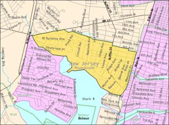 Neptune City, New Jersey - Image: Census Bureau map of Neptune City, New Jersey