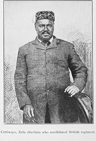 Cetshwayo kaMpande - Cetshwayo (called Cettiwayo in the caption of the photo above), in Cape Town shortly after his capture in the 1879 Anglo-Zulu War. He led several victories against the British army early in the war.