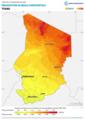 Chad GHI Solar-resource-map lang-FR GlobalSolarAtlas World-Bank-Esmap-Solargis.png