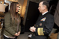 "Chairman of the Joint Chiefs of Staff Navy Adm. Mike Mullen, right, talks with Bristol Palin, daughter of Sarah Palin and a ""Dancing with the Stars"" finalist, before appearing on ""The View"" in New York City 101124-N-TT977-026.jpg"