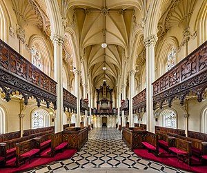 Chapel Royal, Dublin - The interior of the chapel looking west toward the organ and entrance