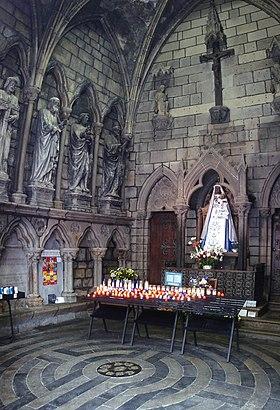 Intérieur de la chapelle de la Vierge.