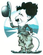 Une caricature de Charlie Chaplin
