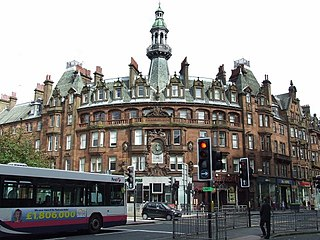 Charing Cross, Glasgow road junction in Glasgow, Scotland, UK