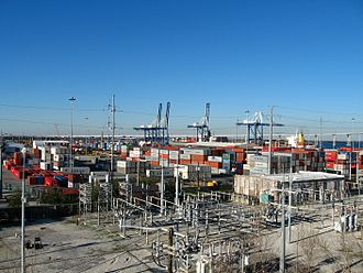 South Carolina Lowcountry - The Port of Charleston has several shipping terminals.