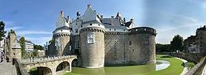Château des ducs de Bretagne - The entrance of the château