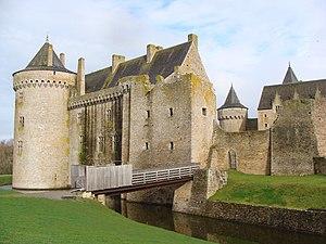 Château de Suscinio - The castle from across the moat