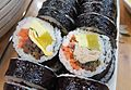 Cheese gimbap and tuna gimbap.jpg