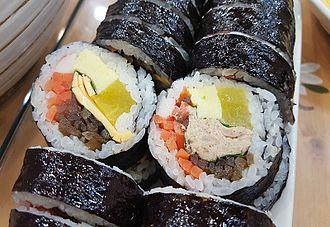 Gimbap - Cheese gimbap and tuna gimbap
