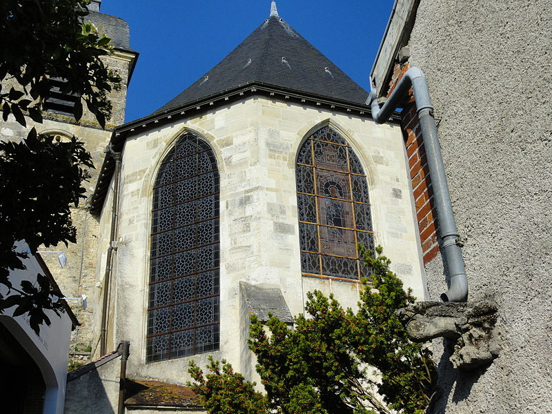 Chevet de l'église abbatiale d'Hautvillers.