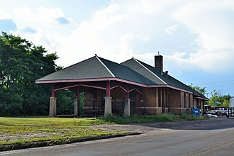 National Register of Historic Places listings in Barron County, Wisconsin - Image: Chicago, St. Paul, Minneapolis and Omaha station, Rice Lake, WI