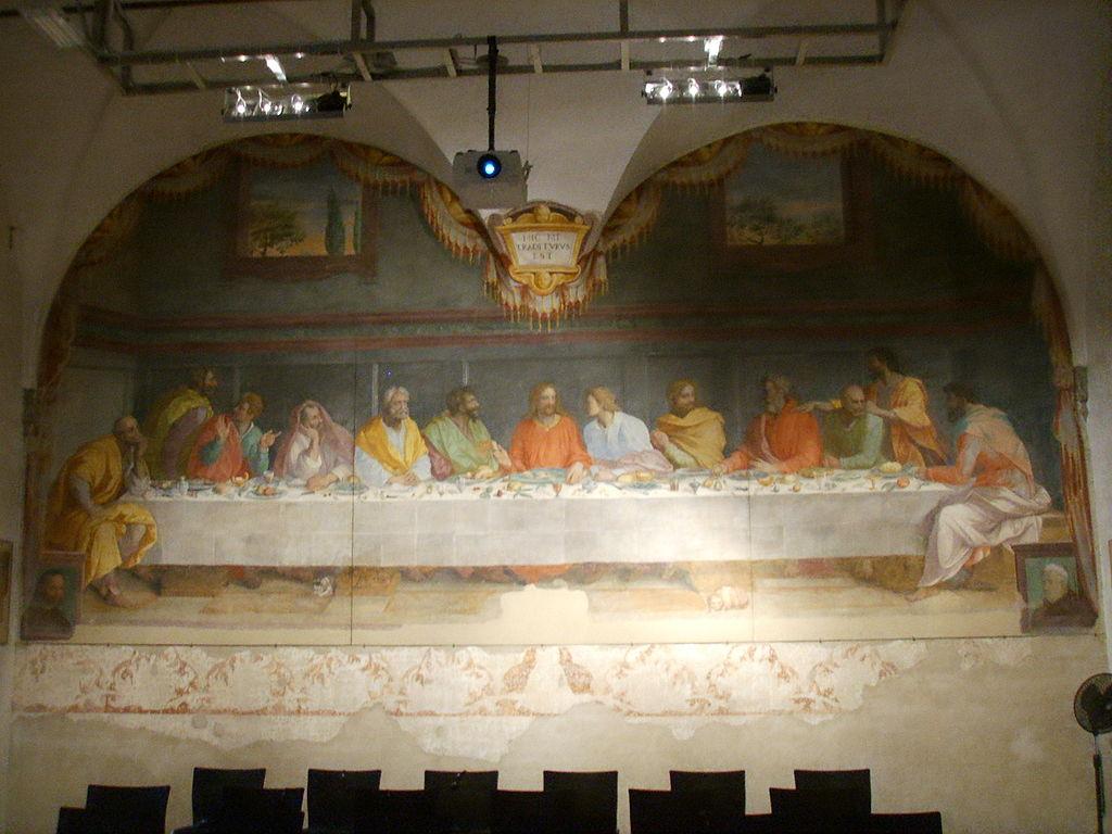 Chiesa del carmine, cenacolo di alessandro allori