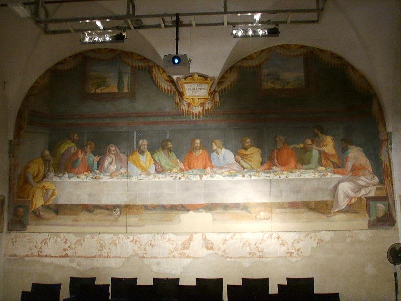 File:Chiesa del carmine, cenacolo di alessandro allori.JPG