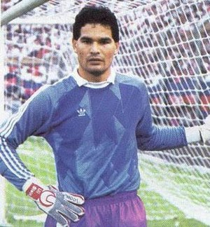 José Luis Chilavert - Chilavert in 1985, while playing for   Argentine side San Lorenzo.