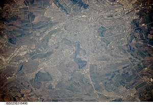 Chisinau, Moldova-satellite photo white balanced, lightened