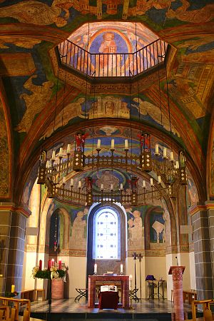 Doppelkirche Schwarzrheindorf - Image: Chor St. Maria und St. Clemens Schwarzrheindorf